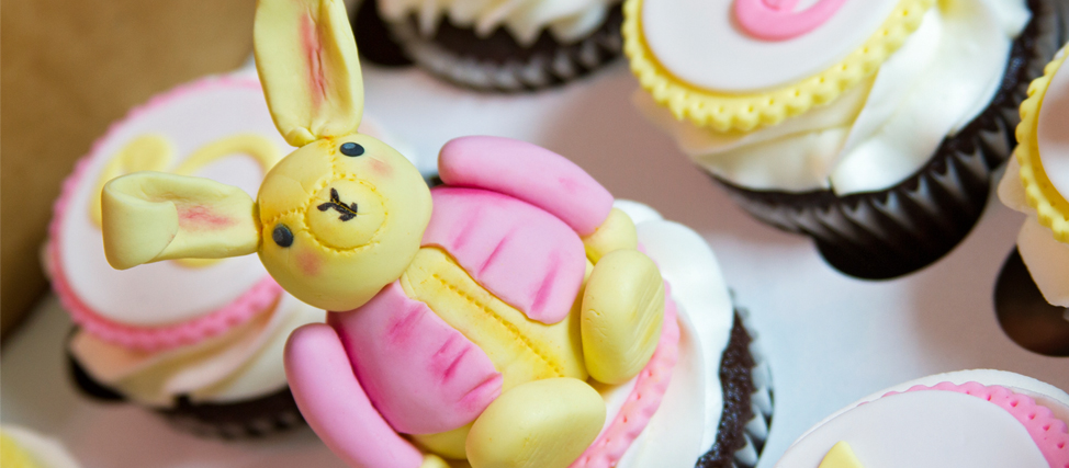 Making Bunny Birthday Cupcakes