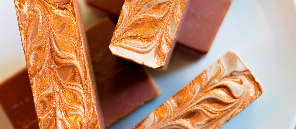 Making & Cutting Merlot & Chocolate Soap