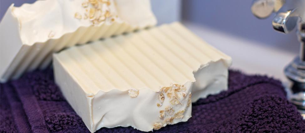 Making & Cutting Goats Milk Oatmeal Soap