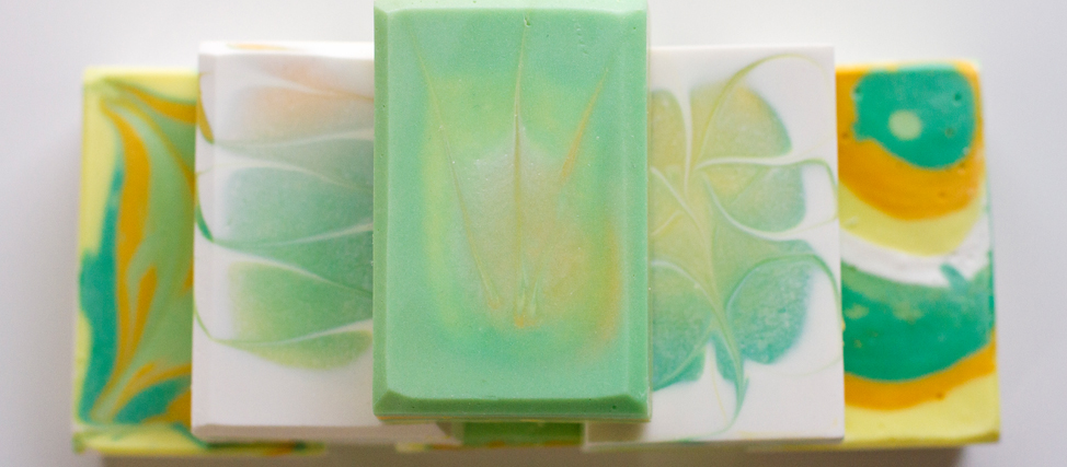 Making Pineapple Cilantro Soap