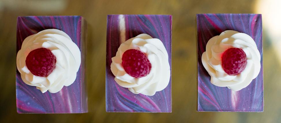 Making Black Raspberry Vanilla Soap